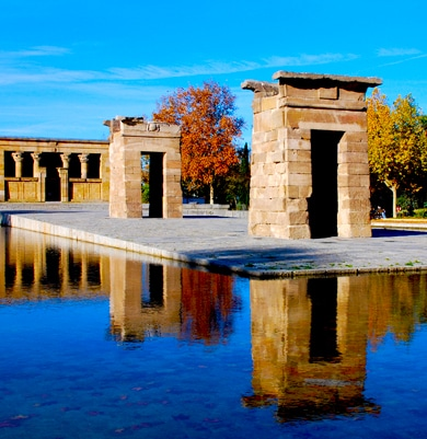 Atrractions in Madrid - temple debod
